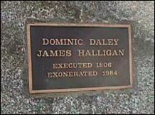 Daley and Halligan memorial stone, near Hospital Hill, Northampton, MA