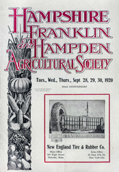 Three County Fair program, 1920
